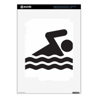 Swimmer Decals For iPad 3