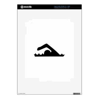 Swimmer Skin For iPad 2