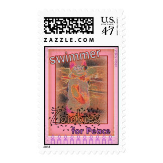 """""""Swimmer Zombies for Peace"""" Postage"""