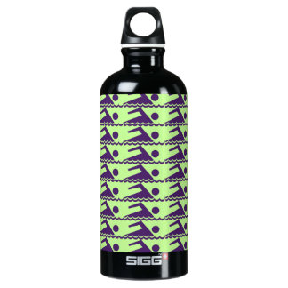 Swimmers-AquaBkg Aluminum Water Bottle
