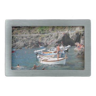 Swimmers at Cinque Terre Belt Buckle