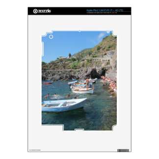Swimmers at Cinque Terre Decal For iPad 3