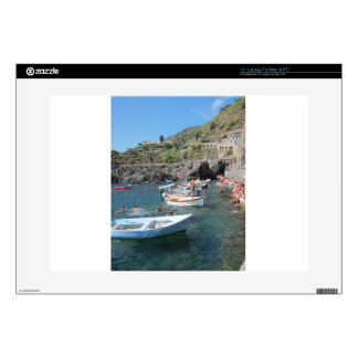 Swimmers at Cinque Terre Decal For Laptop