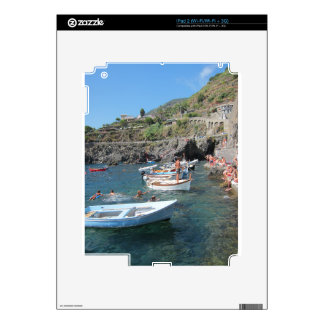 Swimmers at Cinque Terre iPad 2 Skins