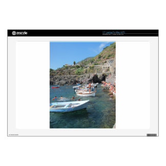 Swimmers at Cinque Terre Skin For Laptop