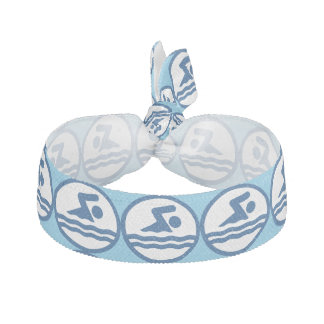 Swimmers Blue Swimming and Diving Hair Tie