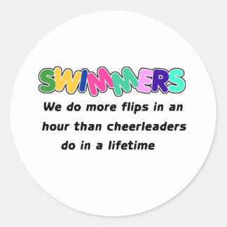 Swimmers & Cheerleaders Classic Round Sticker