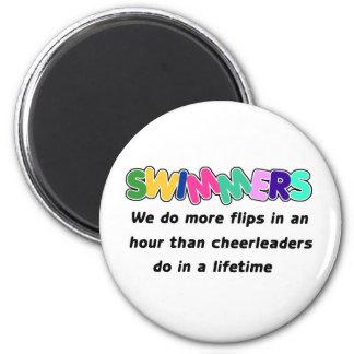 Swimmers & Cheerleaders Magnets