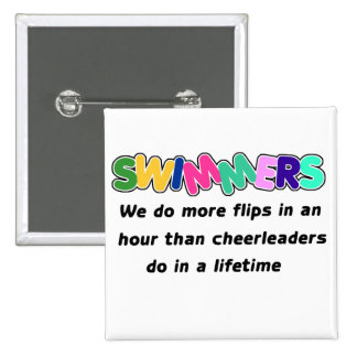 Swimmers & Cheerleaders Pinback Button