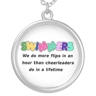 Swimmers & Cheerleaders Round Pendant Necklace