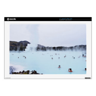 """Swimmers enjoy hot springs 17"""" laptop decal"""