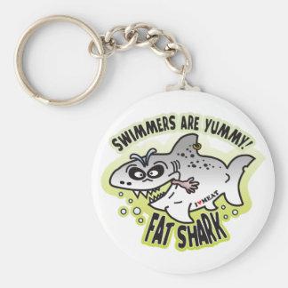 Swimmers Fat Shark Key Chain
