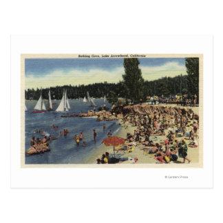 Swimmers on Bathing Cove Beach Postcard