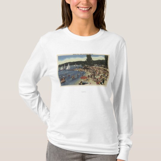 Swimmers on Bathing Cove Beach T-Shirt