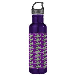 Swimmers-PurpBkg Stainless Steel Water Bottle