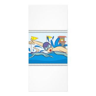 Swimmers Racing in Pool Rack Card