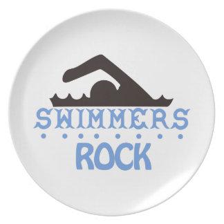 Swimmers Rock Dinner Plate