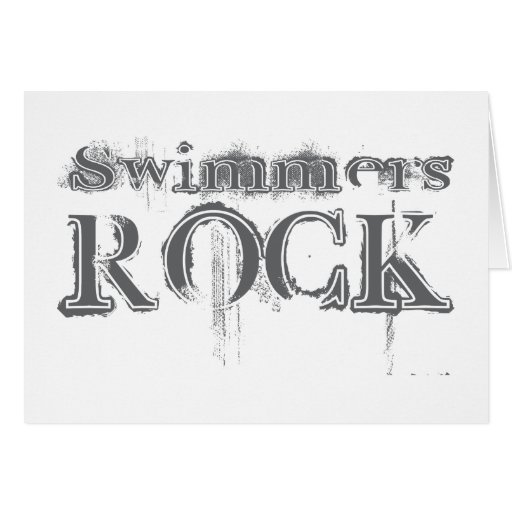 Swimmers Rock Greeting Cards