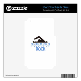 Swimmers Rock iPod Touch 4G Decals