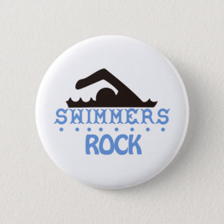 Swimmers Rock Pinback Button