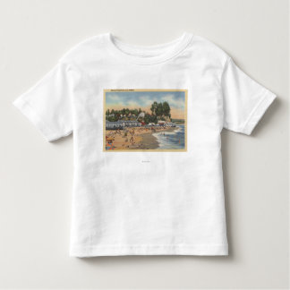 Swimmers & Sunbathers on the Beach Toddler T-shirt