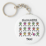 Swimmers TAXI - Bright Swim Characters Keyring Keychains
