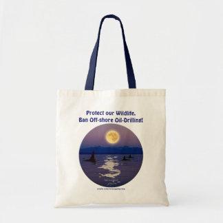 SWIMMIING ORCA & MOON Widllfie Tote Bag