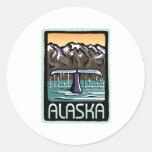 Swimmin' en Alaska Pegatina Redonda