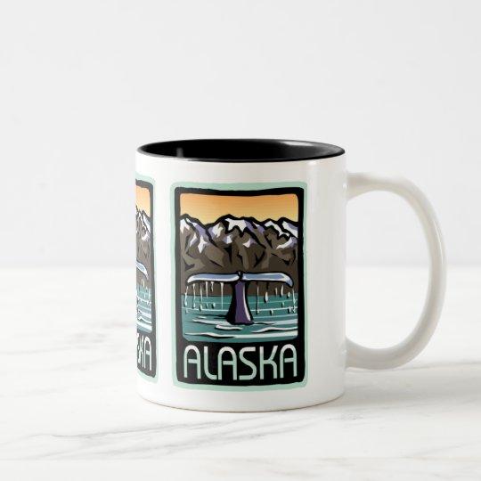 Swimmin' in Alaska Two-Tone Coffee Mug