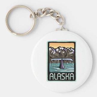 Swimmin' en Alaska Llavero Redondo Tipo Pin