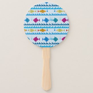 Swimmin' with the Fishes Hand Fan