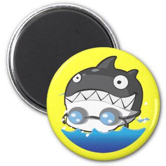 Swimming 2 Inch Round Magnet