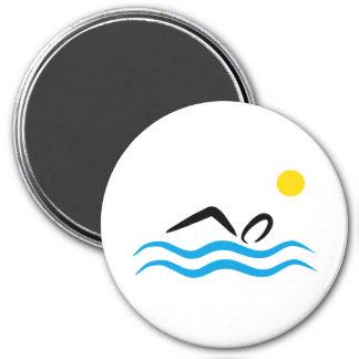 swimming 3 inch round magnet