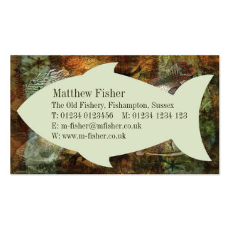 Swimming Against the Tide Business Card Template