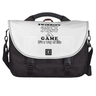 Swimming Ain't Just A Game It's A Way Of Life Commuter Bag