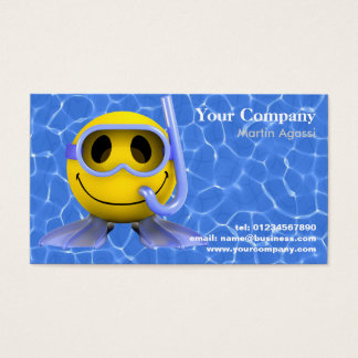Swimming and Diving Business Cards