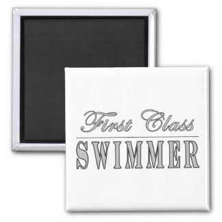 Swimming and Swimmers : First Class Swimmer Magnets