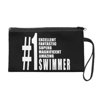 Swimming and Swimmers : Number One Swimmer Wristlet Purse