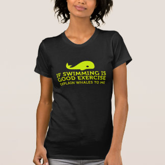 Swimming and Whales T Shirt