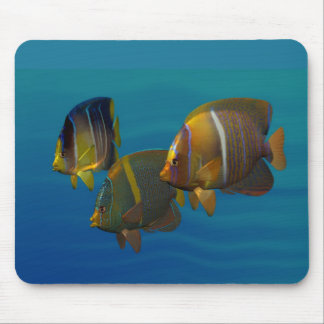 Swimming Angelfish Mouse Pads