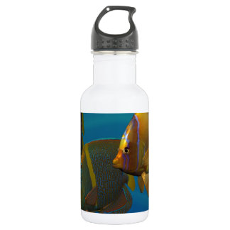 Swimming Angelfish Stainless Steel Water Bottle