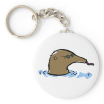 swimming anteater keychain