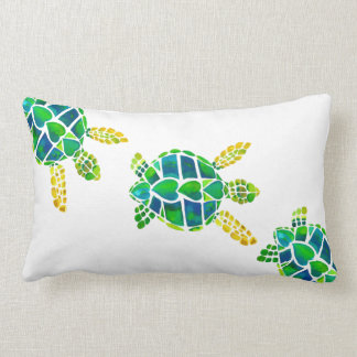 Swimming Baby Sea Turtles Pillows