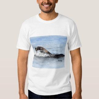 Swimming Baby Seal, Watercolor Tee Shirt