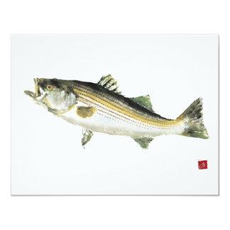 Swimming Bass Card