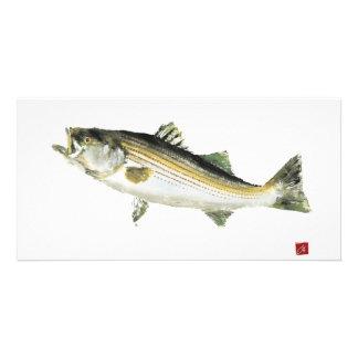 Swimming Bass Photo Card Template