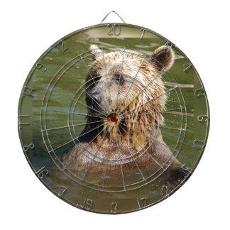 swimming bear dartboard with darts