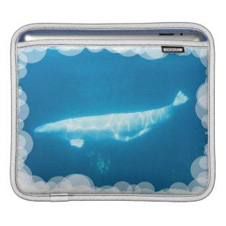 Swimming Beluga Whale  iPad Sleeve