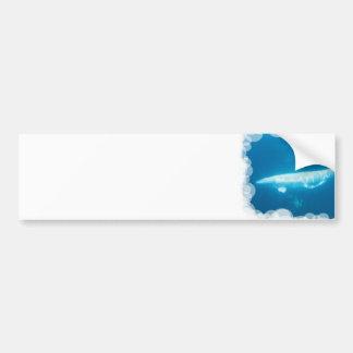 Swimming Beluga Whales Bumper Sticker Car Bumper Sticker