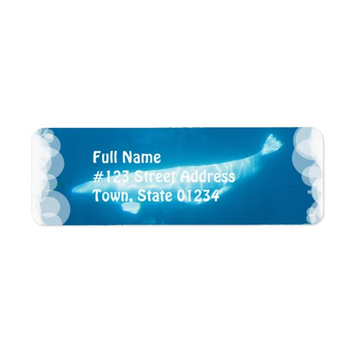 Swimming Beluga Whales Mailing Labels